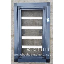 精简式框中框防护防盗纱窗